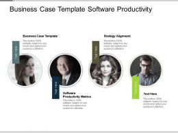 Business Case Template Software Productivity Metrics Strategy Alignment Cpb