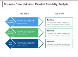 Business Case Validation Detailed Feasibility Analysis Technology Assessment