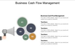Business Cash Flow Management Ppt Powerpoint Presentation Professional Examples Cpb