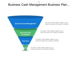 Business Cash Management Business Plan Competition Operations Management Tools