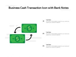 Business Cash Transaction Icon With Bank Notes
