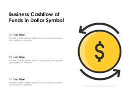 Business Cashflow Of Funds In Dollar Symbol