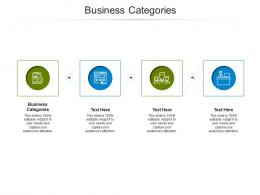Business Categories Ppt Powerpoint Presentation Gallery Gridlines Cpb