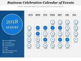 Business Celebration Calendar Of Events