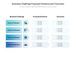 Business Challenge Proposed Solutions And Outcomes
