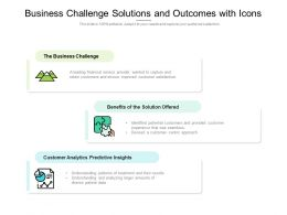 Business Challenge Solutions And Outcomes With Icons