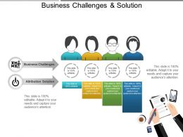 Business Challenges And Solution Example Of Ppt