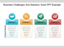 Business Challenges And Solutions Good Ppt Example