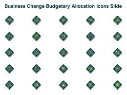 Business Change Budgetary Allocation Icons Slide Ppt Powerpoint Presentation Icon