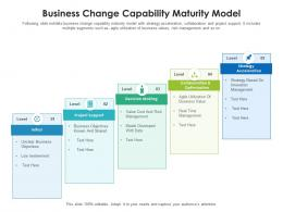 Business Change Capability Maturity Model