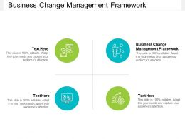 Business Change Management Framework Ppt Powerpoint Presentation Inspiration Pictures Cpb