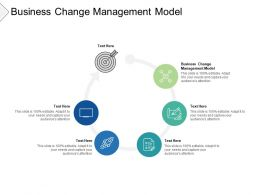 Business Change Management Model Ppt Powerpoint Presentation Portfolio Model Cpb