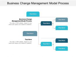 Business Change Management Model Process Ppt Powerpoint Presentation File Deck Cpb