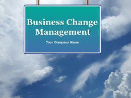 Business Change Management Powerpoint Presentation Slides