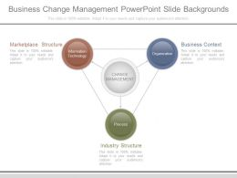 Business Change Management Powerpoint Slide Backgrounds