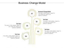 Business Change Model Ppt Powerpoint Presentation Visual Aids Deck Cpb