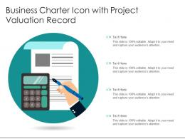 Business Charter Icon With Project Valuation Record