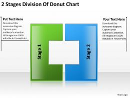 Business Charts 2 Stages Division Of Donut Powerpoint Templates