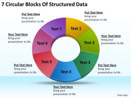 Business Charts 7 Circular Blocks Of Structured Data Powerpoint Templates