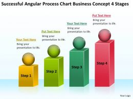 Business Charts Angular Process Concept 4 Stages Powerpoint Templates