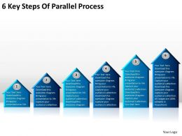Business Charts Examples 6 Key Steps Of Parallel Process Powerpoint Slides