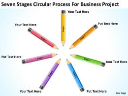 Business Charts Seven Stages Circular Process For Project Powerpoint Templates