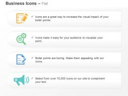 business_checklist_search_report_megaphone_ppt_icons_graphics_Slide01