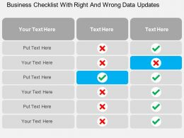 business_checklist_with_right_and_wrong_data_updates_flat_powerpoint_design_Slide01