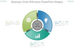 Business Circle With Icons Powerpoint Shapes