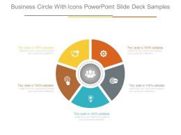 Business Circle With Icons Powerpoint Slide Deck Samples
