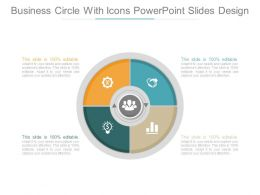 Business Circle With Icons Powerpoint Slides Design