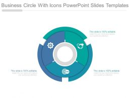 Business Circle With Icons Powerpoint Slides Templates