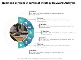 Business Circular Diagram Of Strategy Keyword Analysis Infographic Template