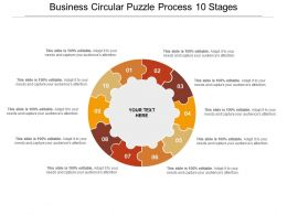 Business Circular Puzzle Process 10 Stages