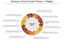 Business Circular Puzzle Process 11 Stages