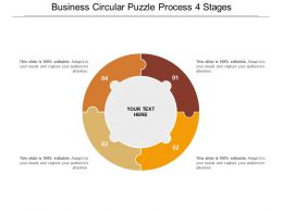 Business Circular Puzzle Process 4 Stages