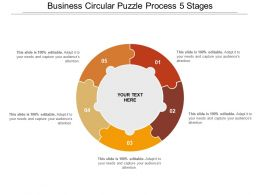 Business Circular Puzzle Process 5 Stages
