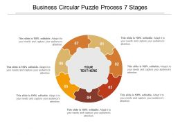 Business Circular Puzzle Process 7 Stages