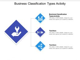 Business Classification Types Activity Ppt Powerpoint Presentation Gallery Designs Cpb