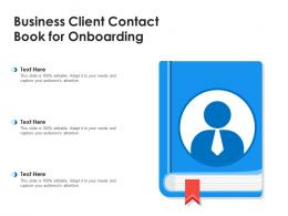 Business Client Contact Book For Onboarding