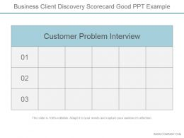Business Client Discovery Scorecard Good Ppt Example