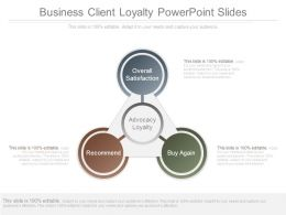 Business Client Loyalty Powerpoint Slides