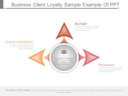 Business Client Loyalty Sample Example Of Ppt