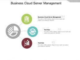 Business Cloud Server Management Ppt Powerpoint Presentation Ideas Templates Cpb