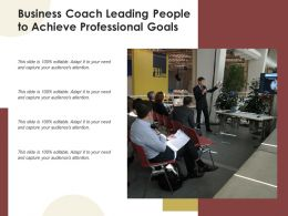 Business Coach Leading People To Achieve Professional Goals