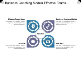 Business Coaching Models Effective Teams Model Project Communication Skills Cpb