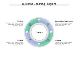 Business Coaching Program Ppt Powerpoint Presentation Professional Portrait Cpb