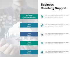 Business Coaching Support Ppt Powerpoint Presentation Pictures Slide Portrait Cpb