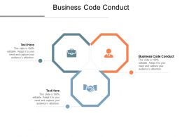 Business Code Conduct Ppt Powerpoint Presentation Pictures Portrait Cpb