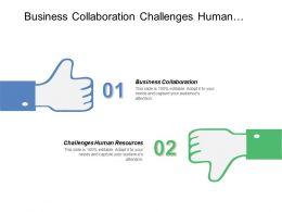 Business Collaboration Challenges Human Resources Blackjack Strategy Program Management Cpb